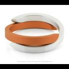 Clic Armband A1O mat zilver en oranje