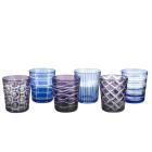 Pols Potten Waterglas of Tumbler - kobalt mix - set van 6 verschillende glazen