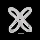 Sjaalring zilverkleur