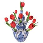 Flat Flowers raamsticker Delfts Rood
