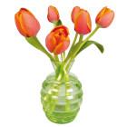 Flat Flowers raamsticker Oranje Tulpen