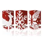 Cardles Frozen Fire - Set van 3 Kaarten & Kandelaars