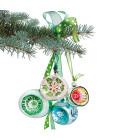 Kerst Raamsticker Groen van Flat Flowers