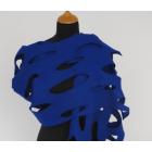 LH58 vilten sjaal kobalt blauw