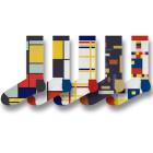 ON Socks Mondriaan en De Stijl sokken - Set van 5 verschillende