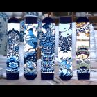Delfts Blauw Sokken ON Socks Set van 5 verschillende