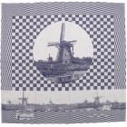 Hollandsche Waaren Theedoeken Molens Kinderdijk - Blauw