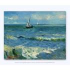 Van Gogh Zeegezicht op Canvas 29x37 cm