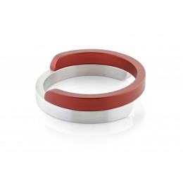 Dutch Design armbanden van Clic Creations in aluminium en rood