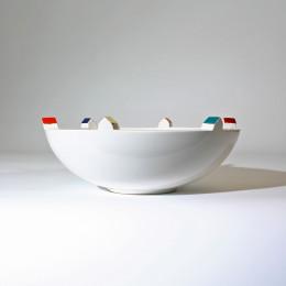 Huiswerk bebouwde kom, bowls en vazen, keramiek van Olav Slingerland bowls en vazen