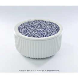 Blue Collar Bowl nr. 2 van Royal Delft bij shop.holland.com