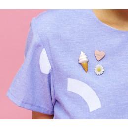 Snoep Pin broche in roze of geel van STOOK Sieraden