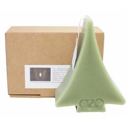 Kerstboom kaars groen 14x11 cm (hxb) koop je bij shop.holland.com