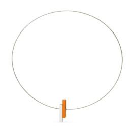 Clic C116O ketting in oranje en zilver aluminium bij shop.holland.com