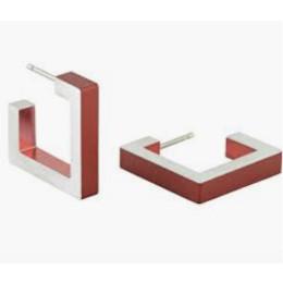 Aluminium oorbellen voor optimaal draagcomfort - clic 011 rood bij shop.holland.com