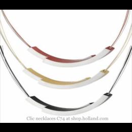 Clic Collier C74 van Clic by Suzanne in de kleuren rood, zwart en oranje koop je bij shop.holland.com