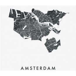 Close up IXXI muurdecoratie Plattegrond Amsterdam