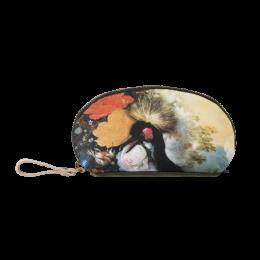 Etui voor make up of potloden - kunst Kraanvogel en bloemen