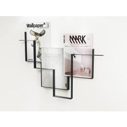 Tijdschriftenrek donkergrijs metaal Guidelines Studio Frederik Roijé Dutch design