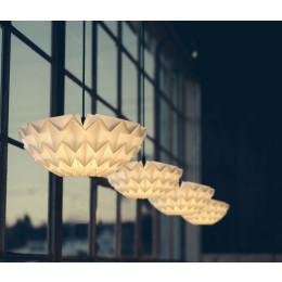 Discus Hanglampen S en M van Danielle Origami Lampen