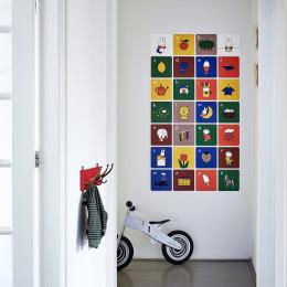 Nijntje alfabet muurdecoratie versiert de kinderkamer