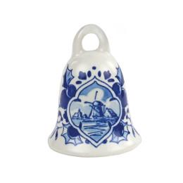 Delfts blauwe kerstbal bel van Royal Delft staat super in de kerstboom