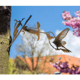 Original gift: Metalbird Hummingbird garden decoration