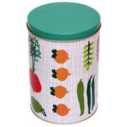 Kitsch Kitchen voorraadbus Porre met groenten en fruit dessin - leuke Dutch Design cadeaus bestel je bij shop.holland.com