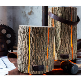 Wood Light lamp Essenhout in 2 maten & 2 varianten