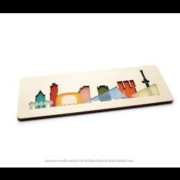 Puzzel Rotterdam van berkenhout en plexiglas koop je bij shop.holland.com