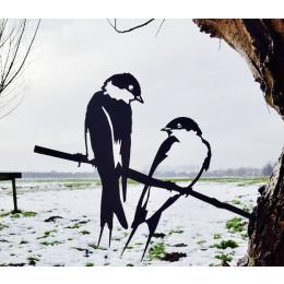 Metalbird Zwaluw metalen vogel silhouet
