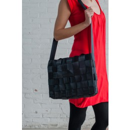 Sweatshop Deluxe tassen, sustainable tas, office bag tas, zwarte laptoptas, design tas