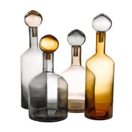 Set decoratieve flessen Bubbles & Bottles Chic van Pols Potten staat prachtig op de kast of het dressoir