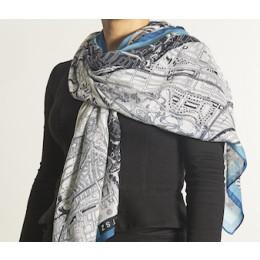 Stads shawl katoen Amsterdam Barends plattegrond