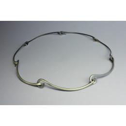 Ketting van zilveren geluk schakels, Dutch design sieraden van edelsmid Yolanda Döpp