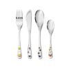 vork, mes, lepel en dessertlepel voor kinderen met afbeeldingen van nijntje speelt