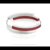 Clic A32R Armband zilver met rood van Clic by Suzanne met magneetsluting