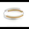 Clic A32G Armband zilver met goud van Clic by Suzanne met magneetsluting