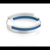 Clic A32B Armband zilver met blauw van Clic by Suzanne met magneetsluting