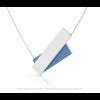 Clic ketting C183B in blauw en zilver alu
