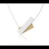Clic by Suzanne C183G ketting in goud en zilver alu