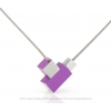 CLIC by Suzanne ketting C206P paars met zilver aluminium