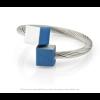 CLIC ring R4B blauw en zilver aluminium bij shop.holland.com
