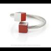 CLIC ring R4R rood en zilver aluminium bij shop.holland.com