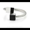 CLIC ring R4Z zwart en zilver aluminium bij shop.holland.com