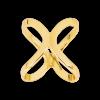 Sjaalring goudkleurig om je sjaal chique te knopen
