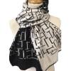 Wollen sjaal Mondriaan Pier & Oceaan print