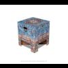 Dutch Design krukje met print van Perzisch tapijt in vintage look