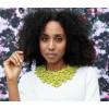 The superb ketting in lime geel front met grijze achterkant dubbelzijdig te dragen koop je bij shop.holland.com