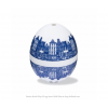 Delfts blauw eierwekker PiepEi van Brutus Kookt  speelt 3 verschillende liedjes voor zacht, medium en hard gekookt eitje